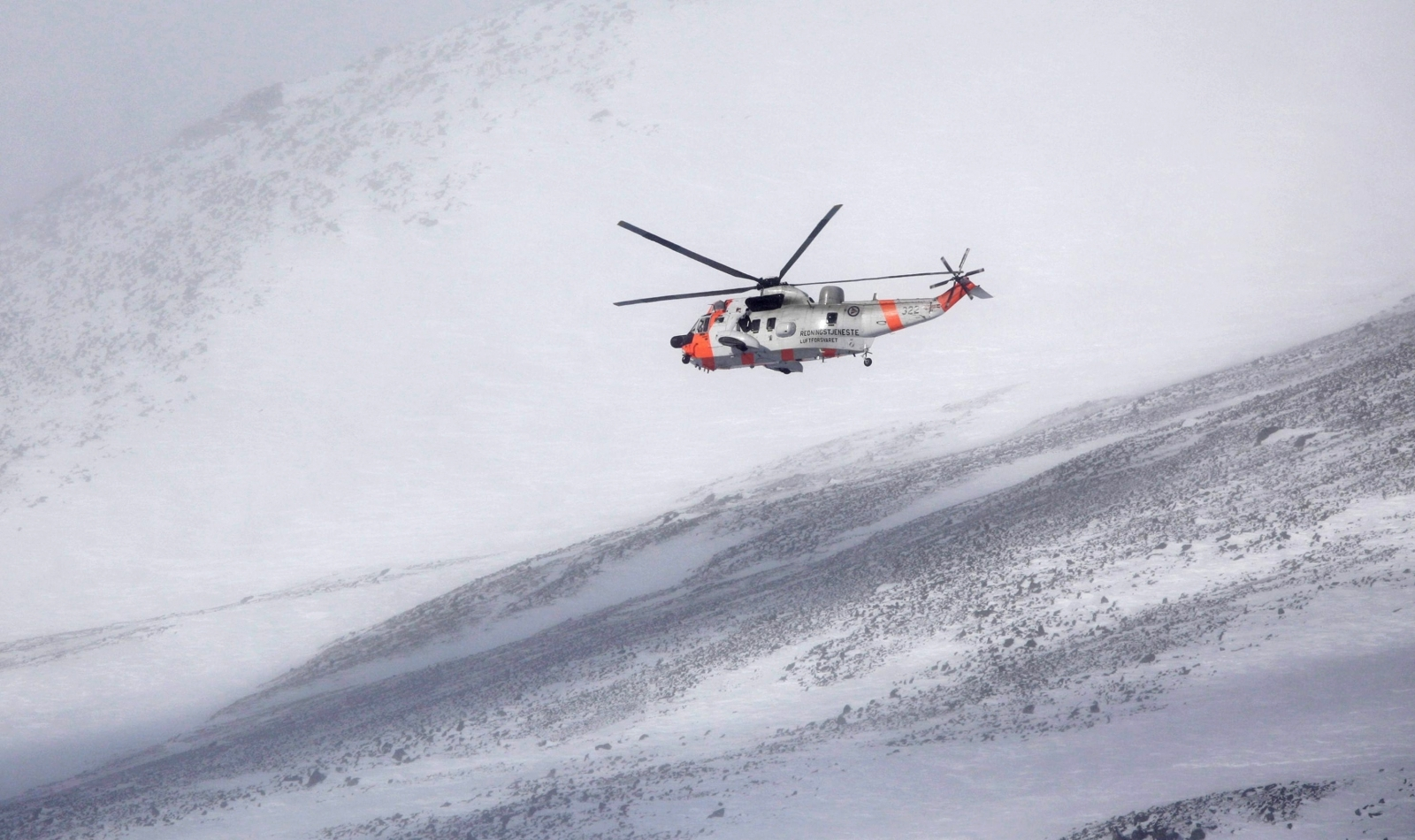 A Sea King helicopter in Sweden