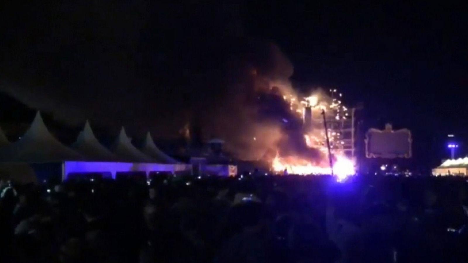 Tomorrowland fire