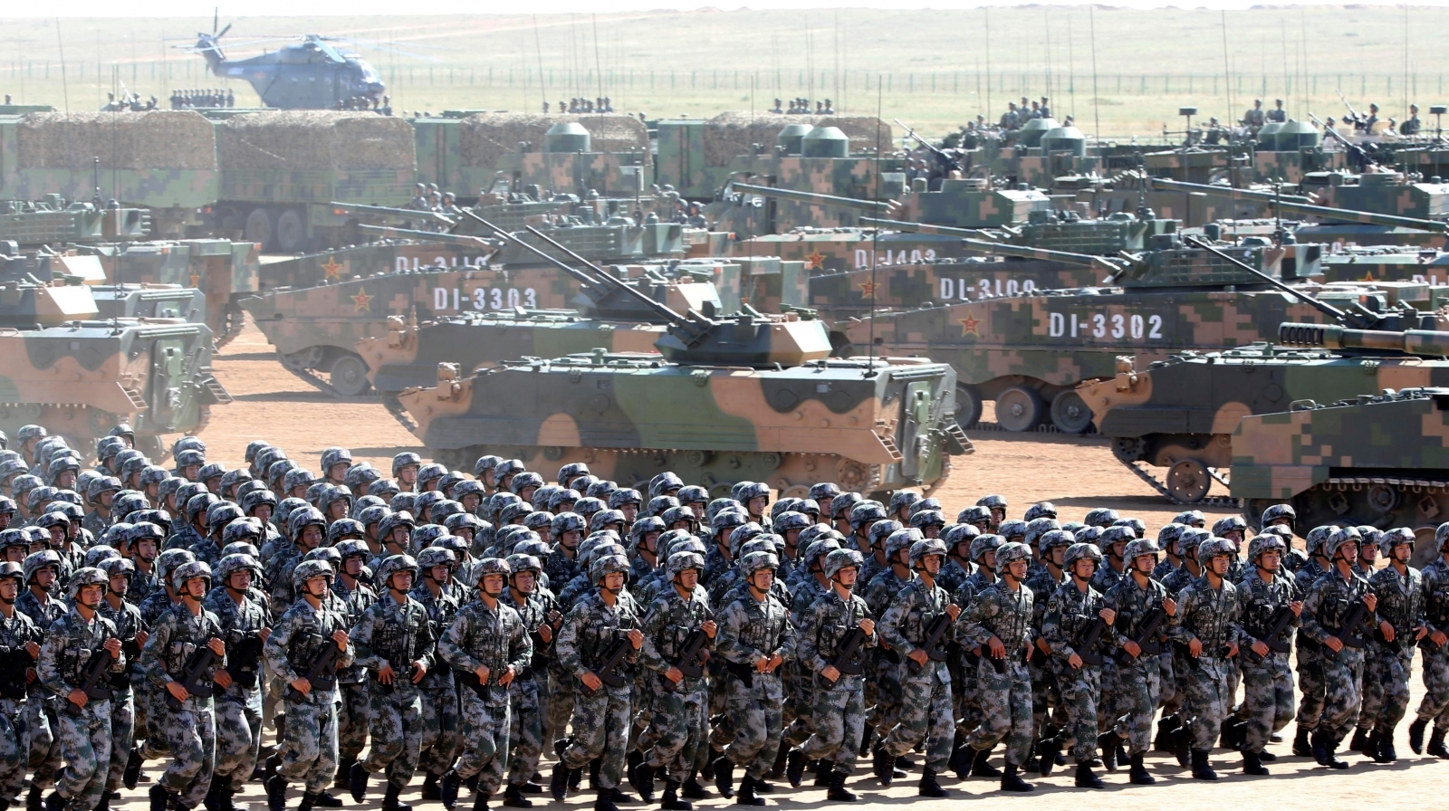 China massive military parade