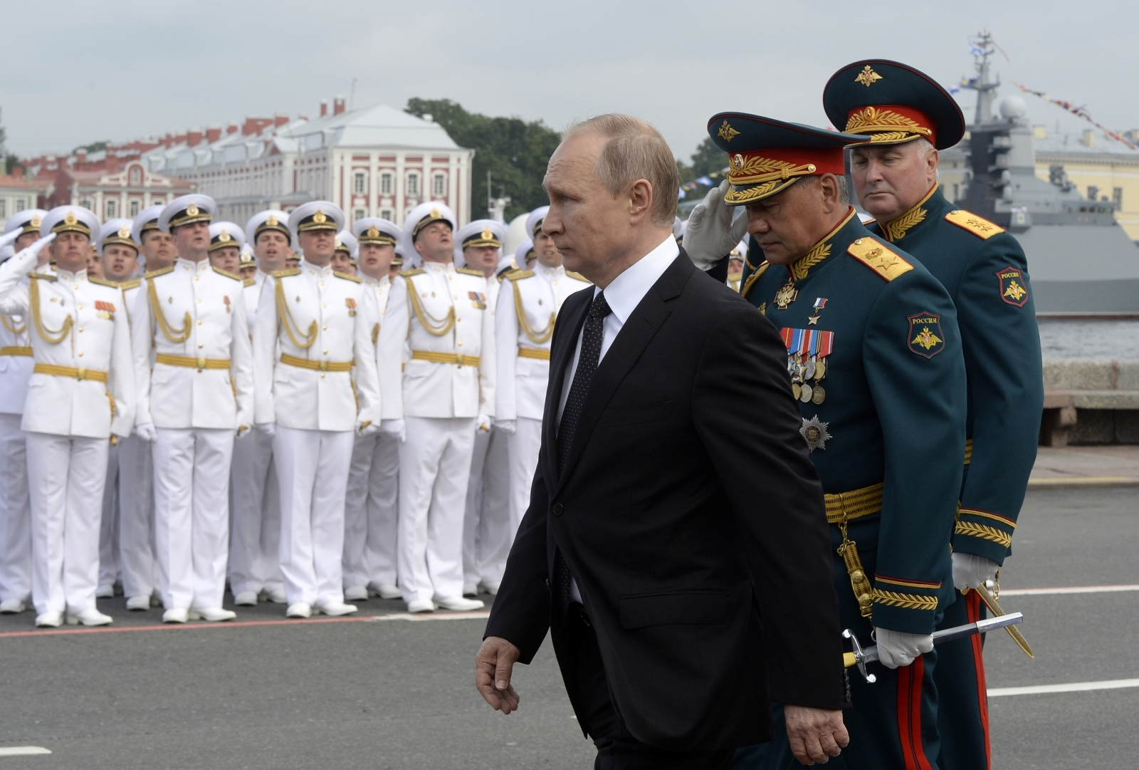 Putin at Russia's Navy Day