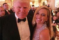 Lynn Aronberg with US President Donald Trump