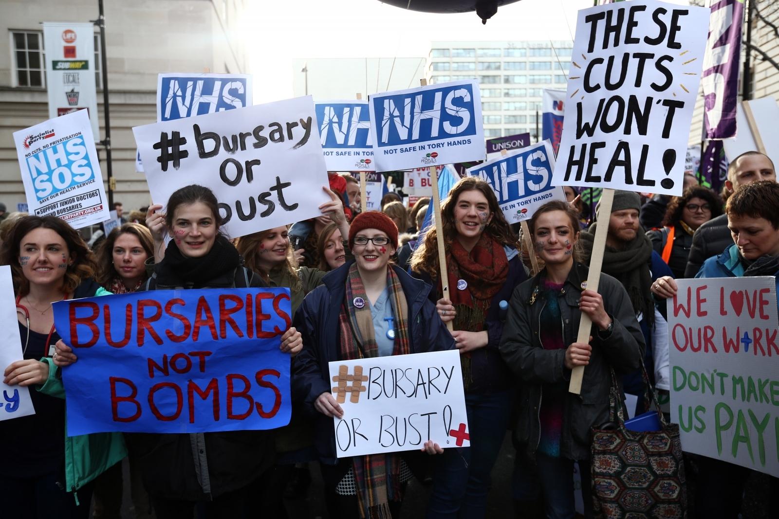 NHS nurses protest