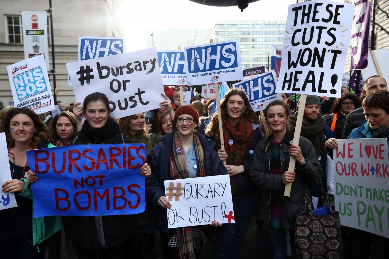 NHS nurses protest