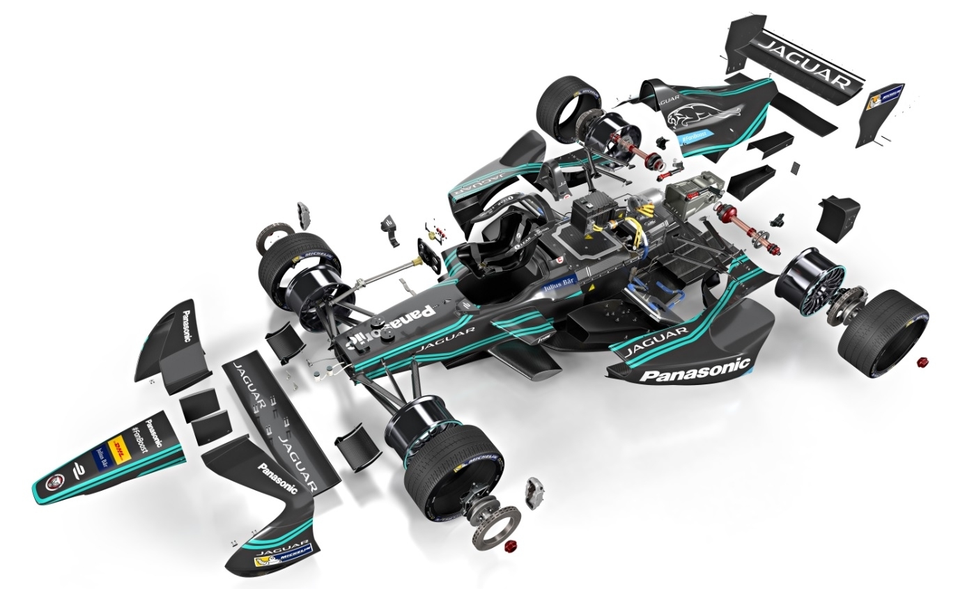 Jaguar I-Type Formula E car