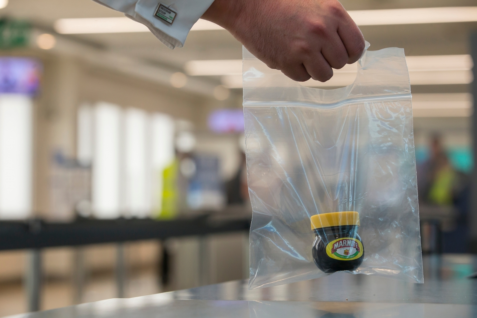 Marmite is the top branded food item confiscated items from hand luggage at London City Airport