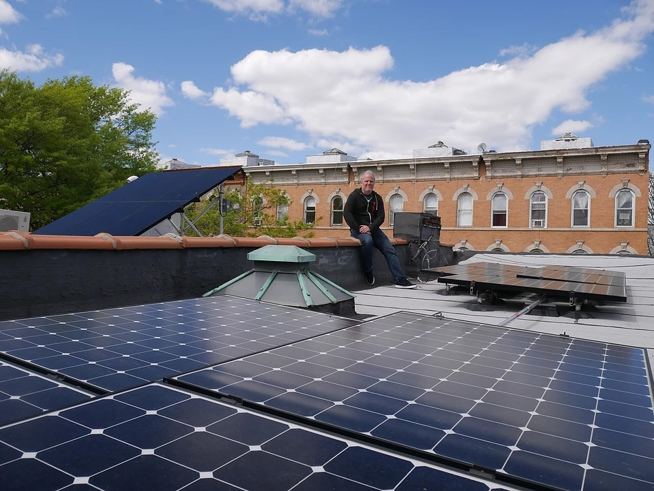 Solar panels at Windsor Terrace in Brooklyn