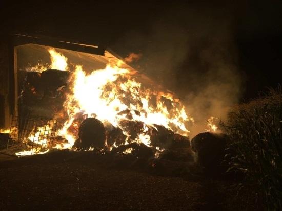 Farm fire in Switzerland