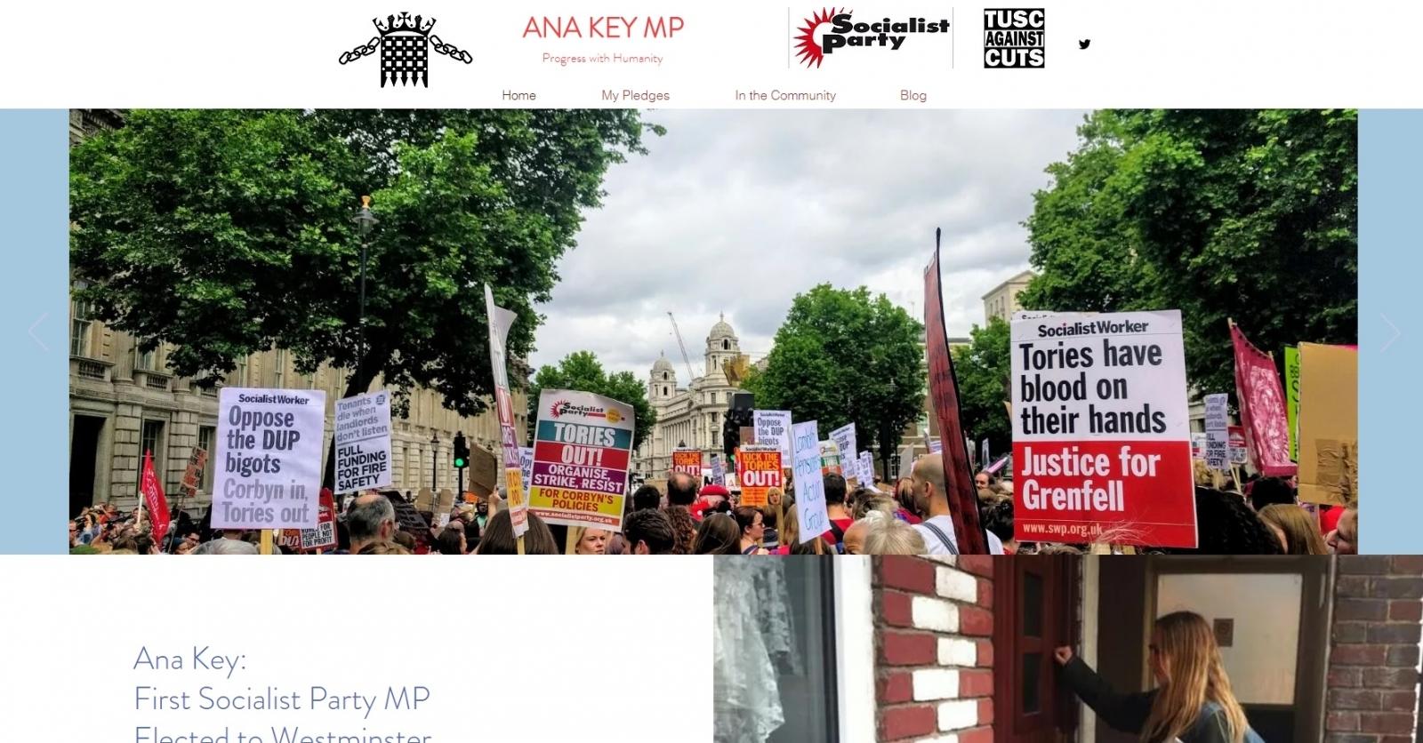 Screenshot of the 'Ana Key MP' website