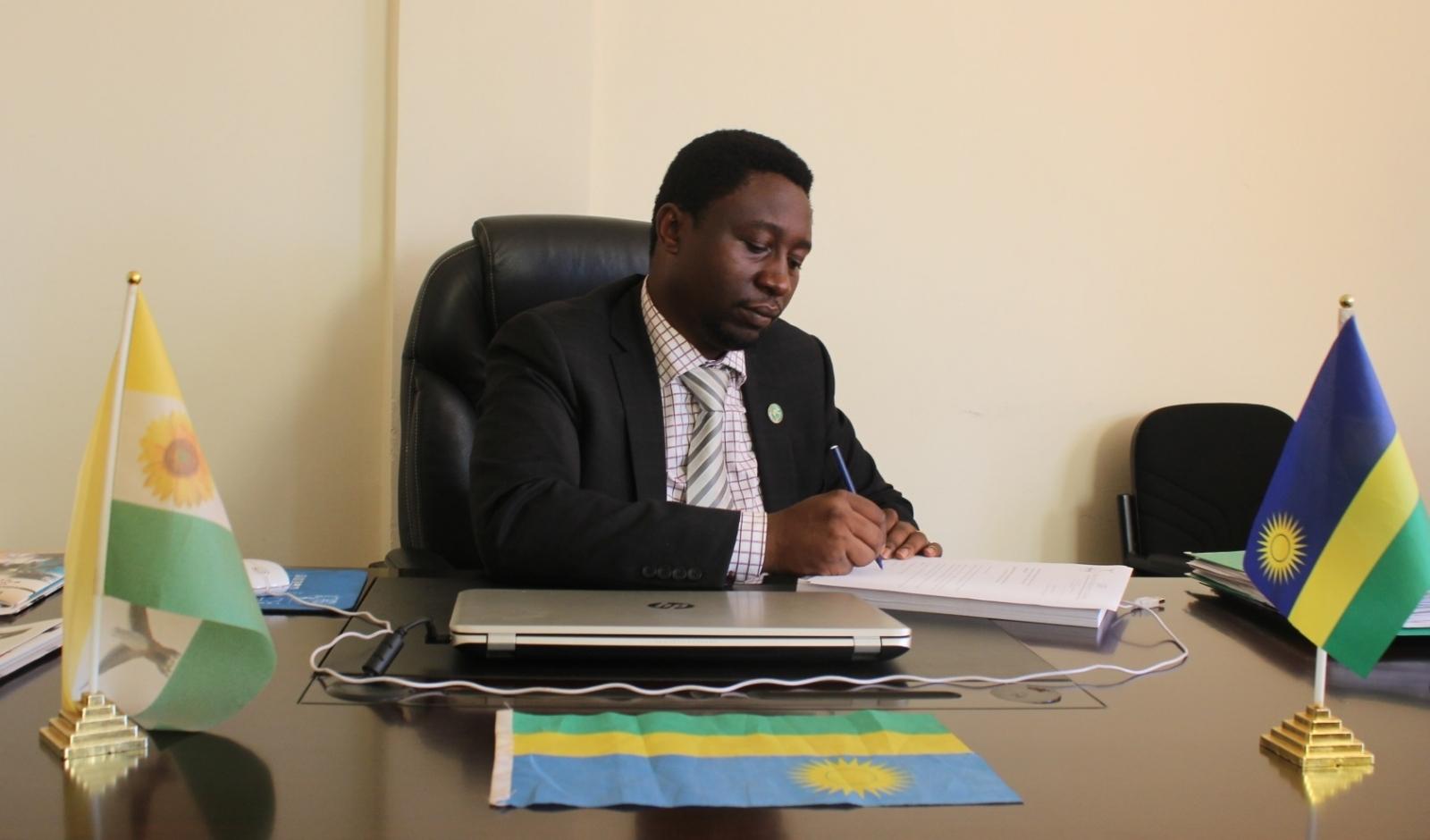 Rwandan opposition leader Frank Habineza