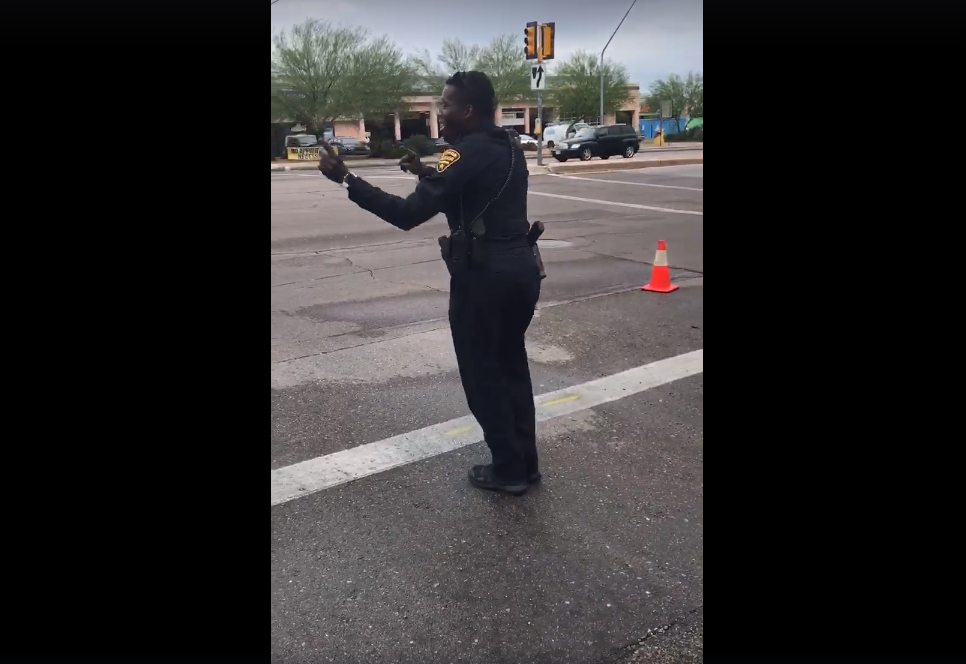 Tucson Police Department officer dancing