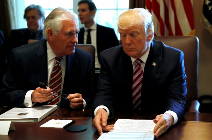 Tillerson and Trump