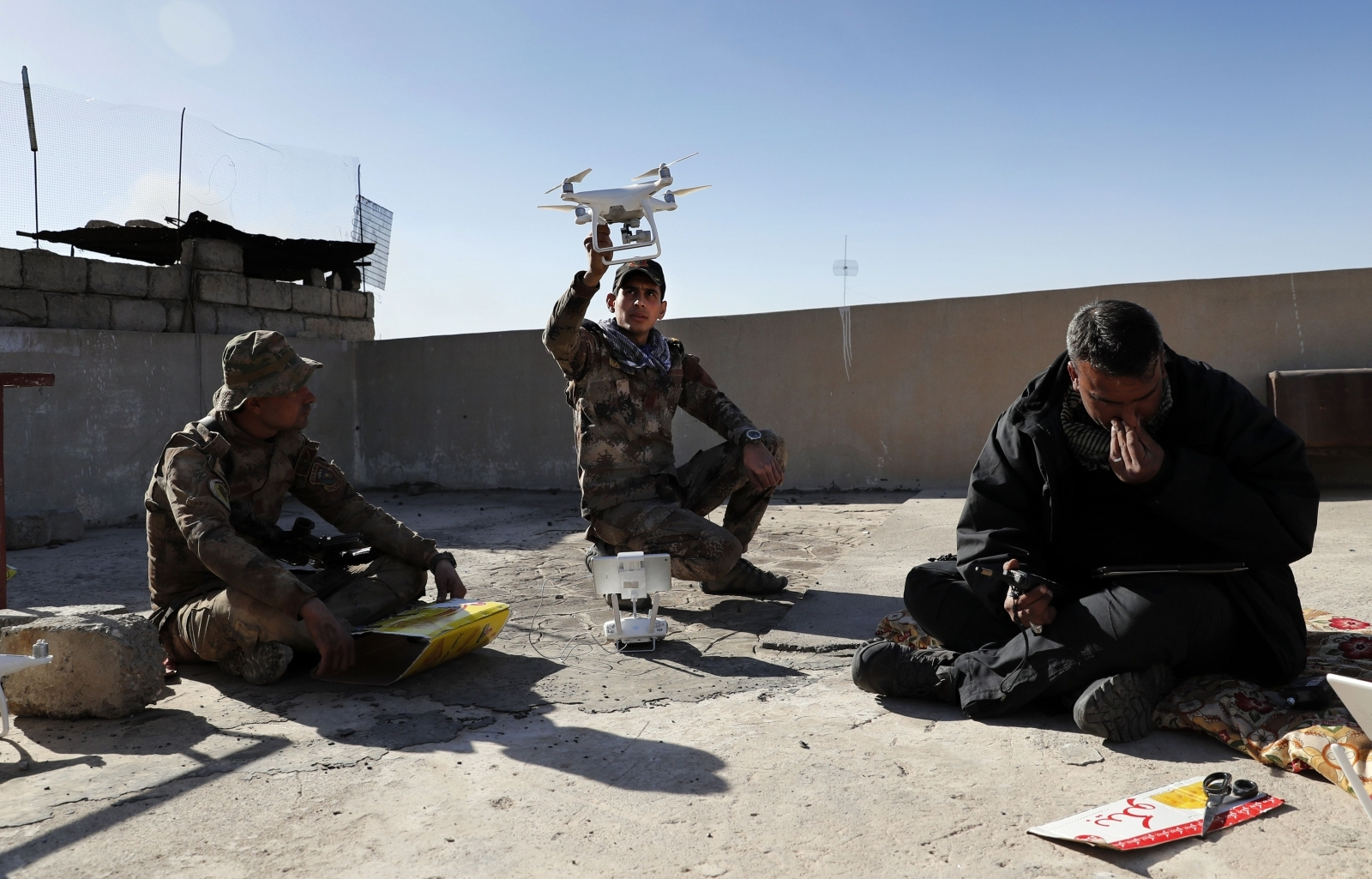 Drones in battle of Mosul