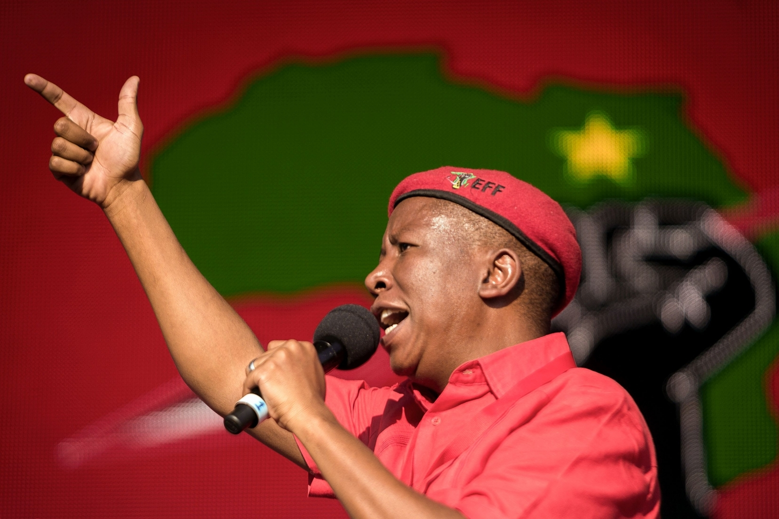 """julius malema Eff leader julius malema is yet to respond to questions about video footage that purportedly shows him discharging a """"firearm"""" on stage in east london."""