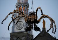 giant robot spider church canada
