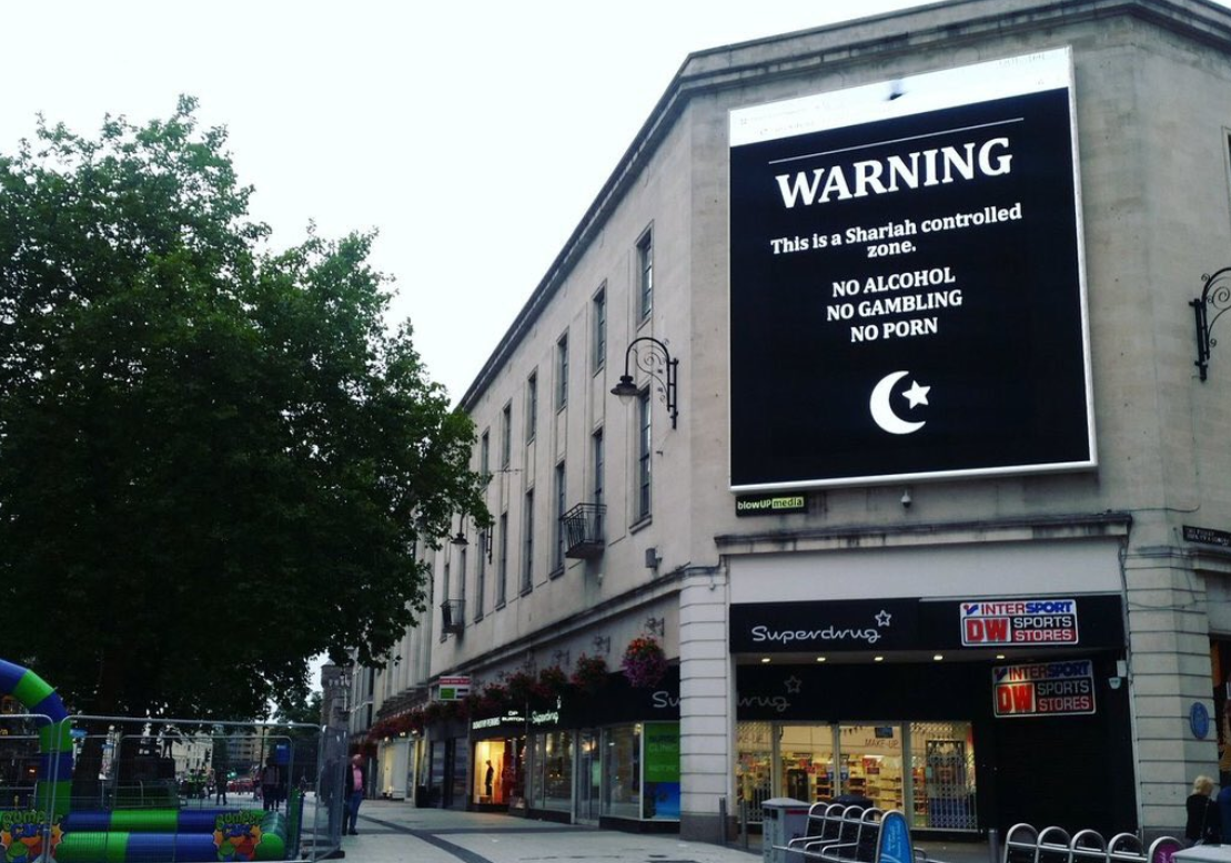 Cardiff sign hacked