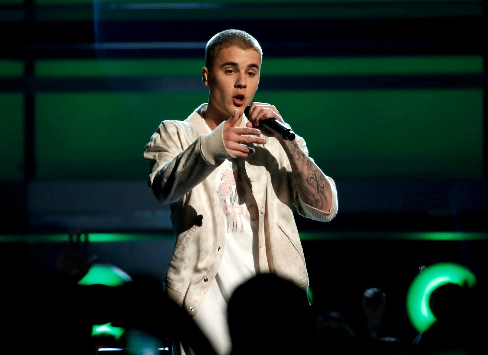 Justin Beiber gives emotional performance at Sunday church service with Kanye West