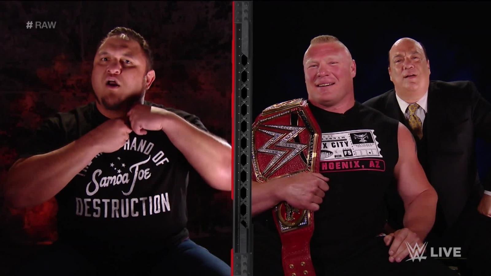 Samoa Joe Brock Lesnar WWE