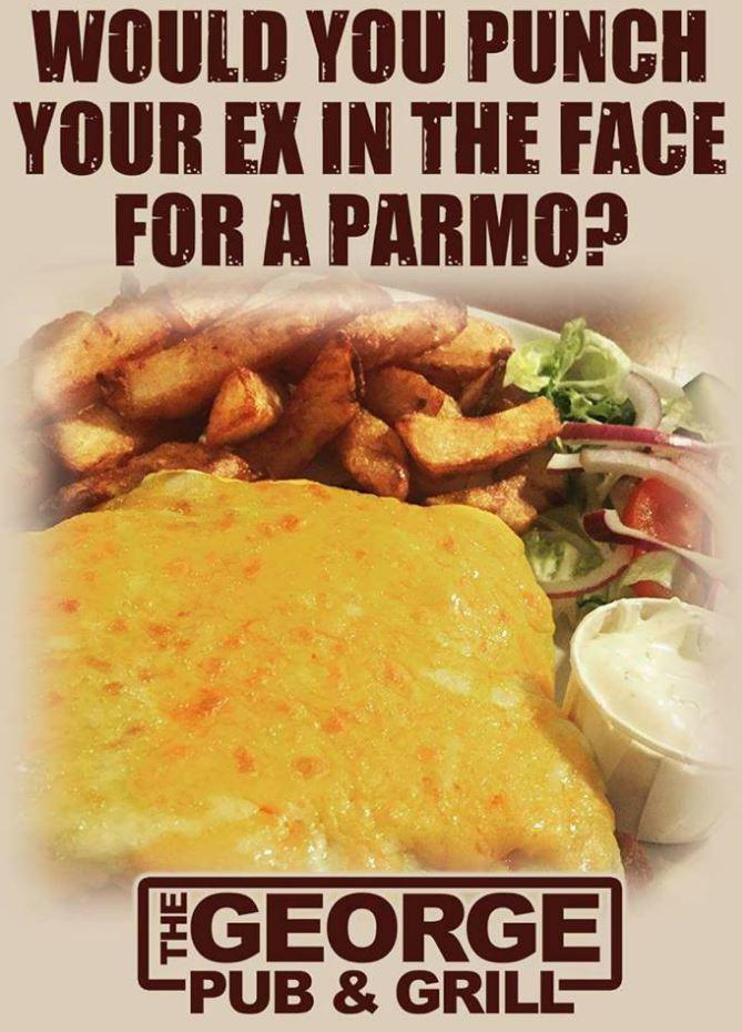 George Pub Parmo Advert