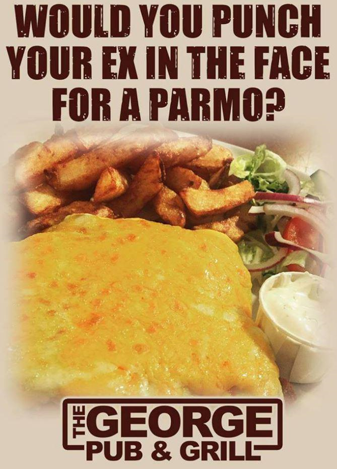 George Pub Parmo Advert