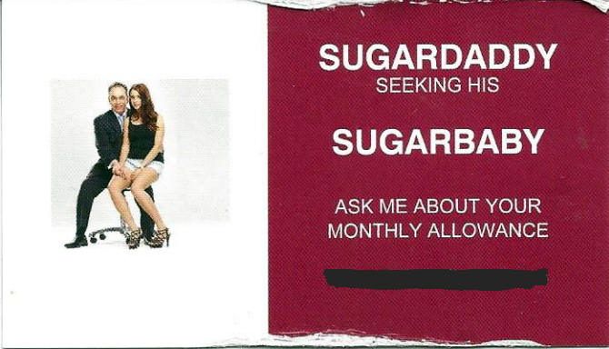 sugardaddy business card