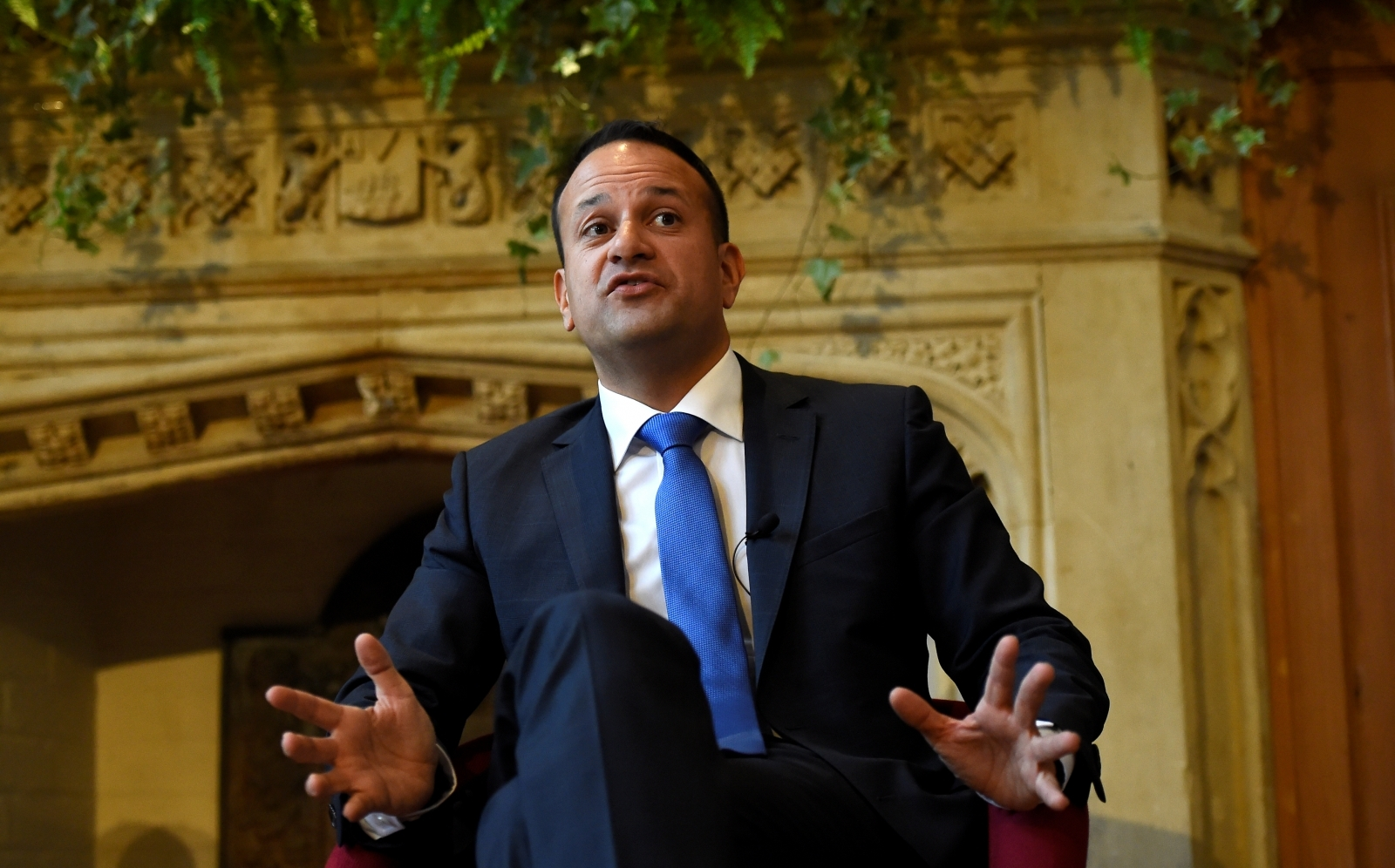 Irish Prime Minister Leo Varadkar speaks at Queen's University in Belfast