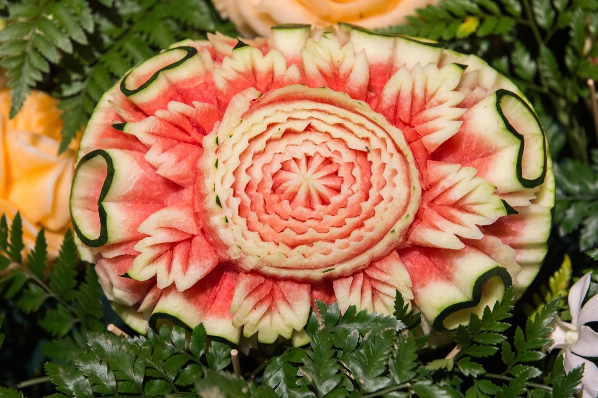 From thailand intricately carved fruits and vegetables