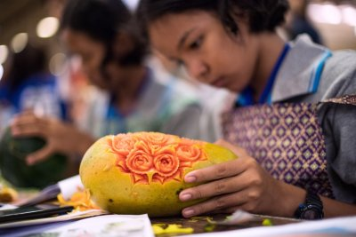 Thailand fruit carving Bangkok