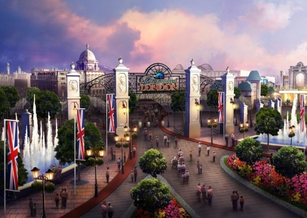 Artist's impression of how the London Resort park could look