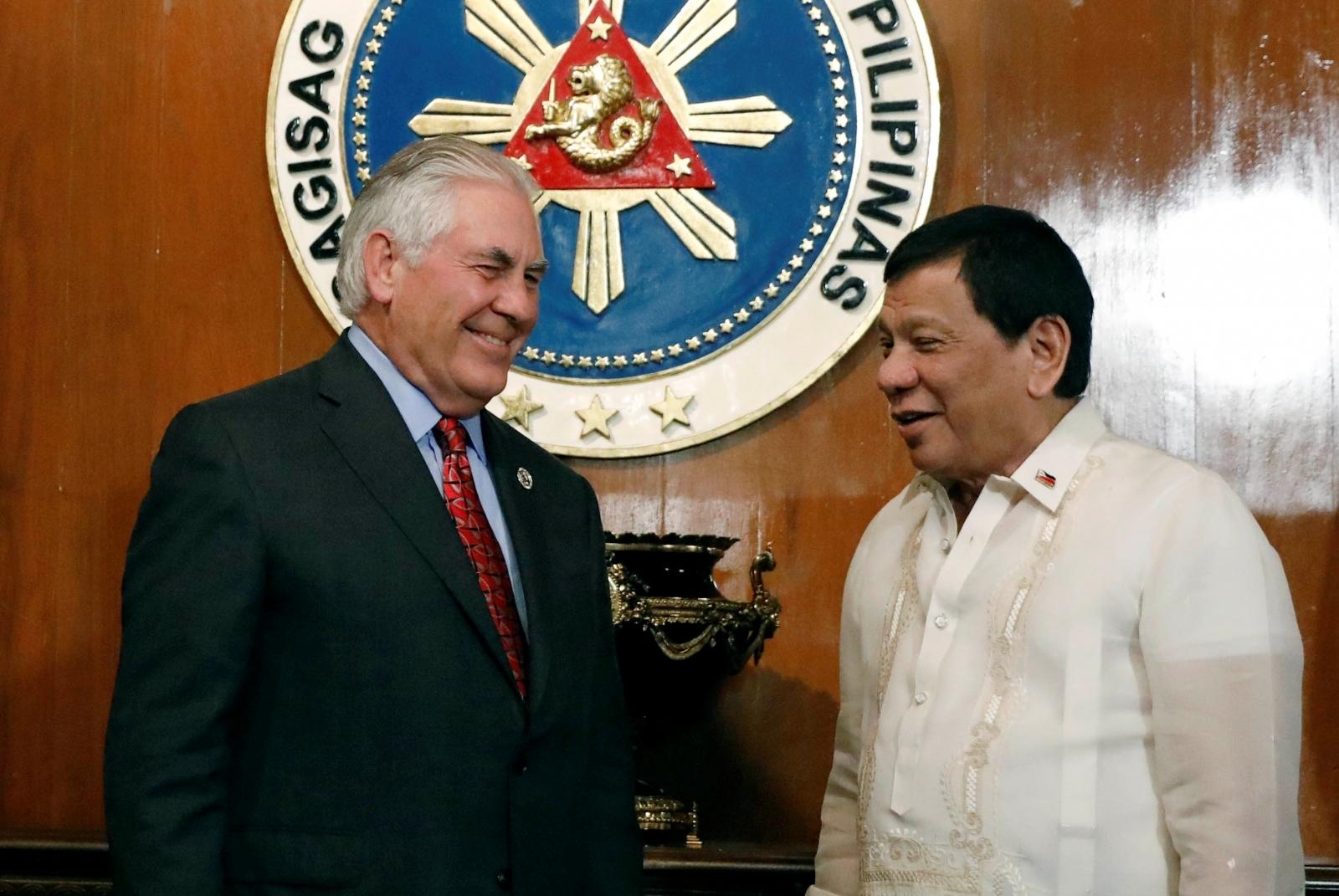 Duterte meeting Rex Tillerson