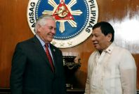 Duterte meeting Rex Tillerson