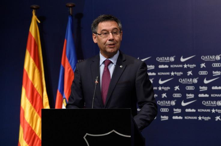 Barcelona president Josep Maria Bartomeu