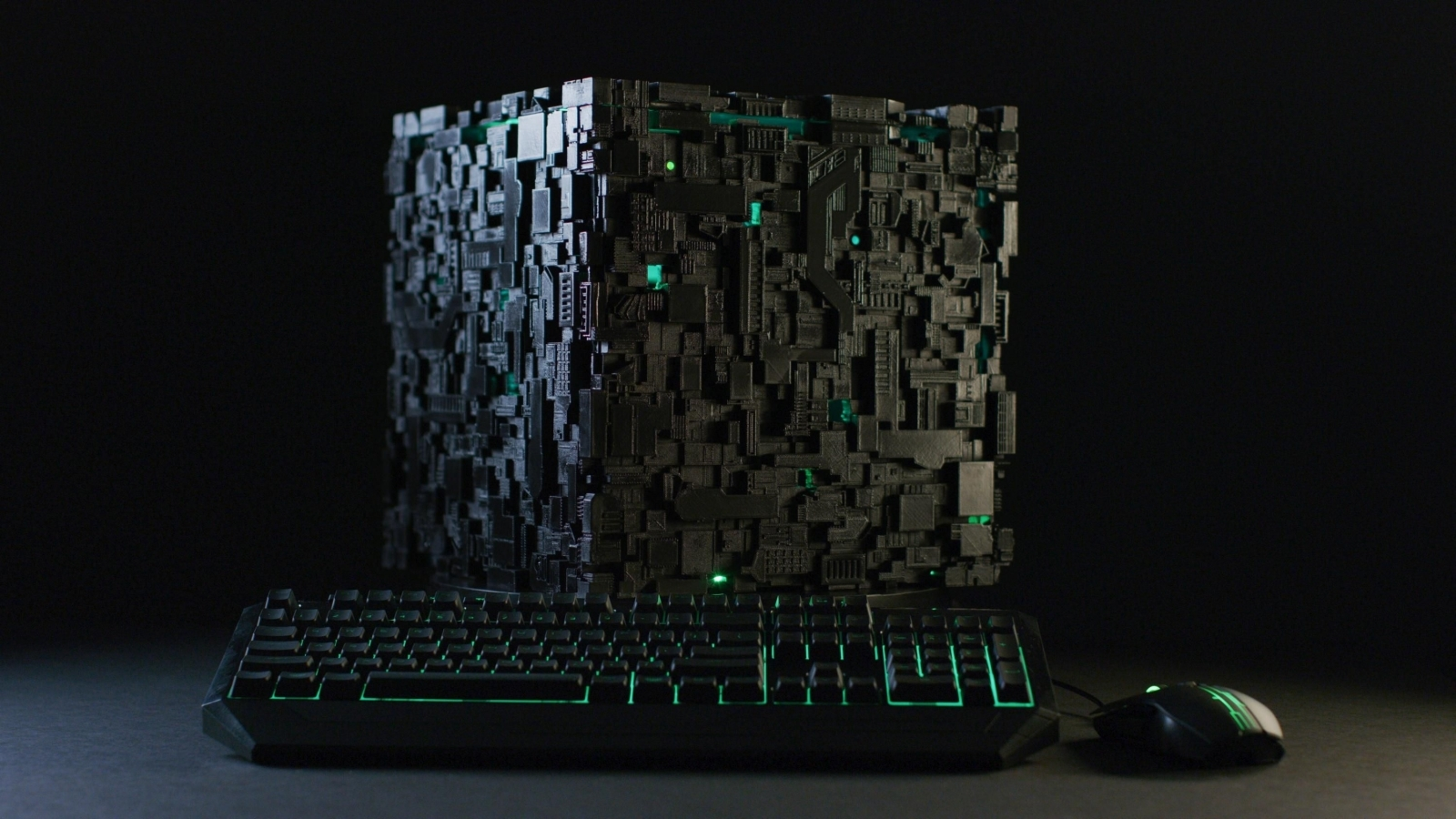 Assimilate your desktop with this Star Trek 'Borg Cube