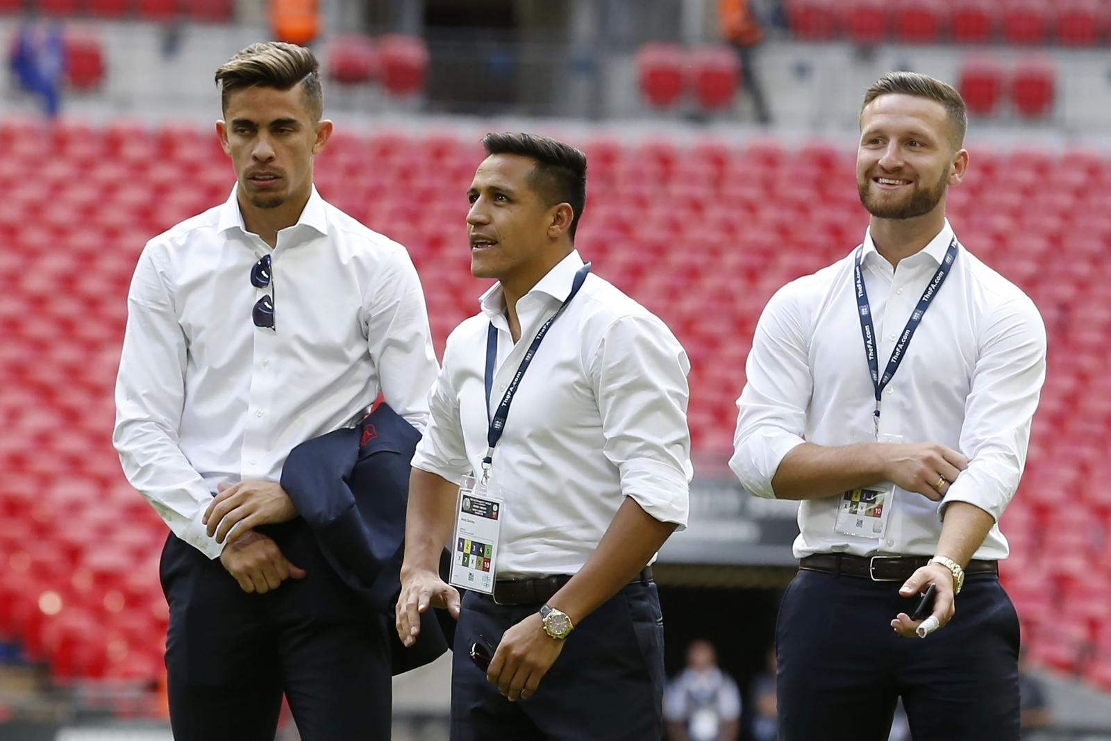 Gabriel Paulista, Alexis Sanchez and Shkodran Mustafi
