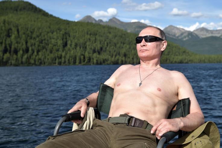 Putin on holiday