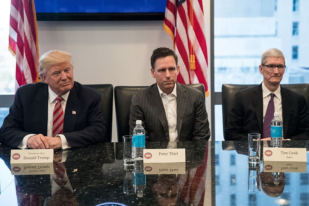 Peter Thiel considers Trump's presidency 'incompetent'
