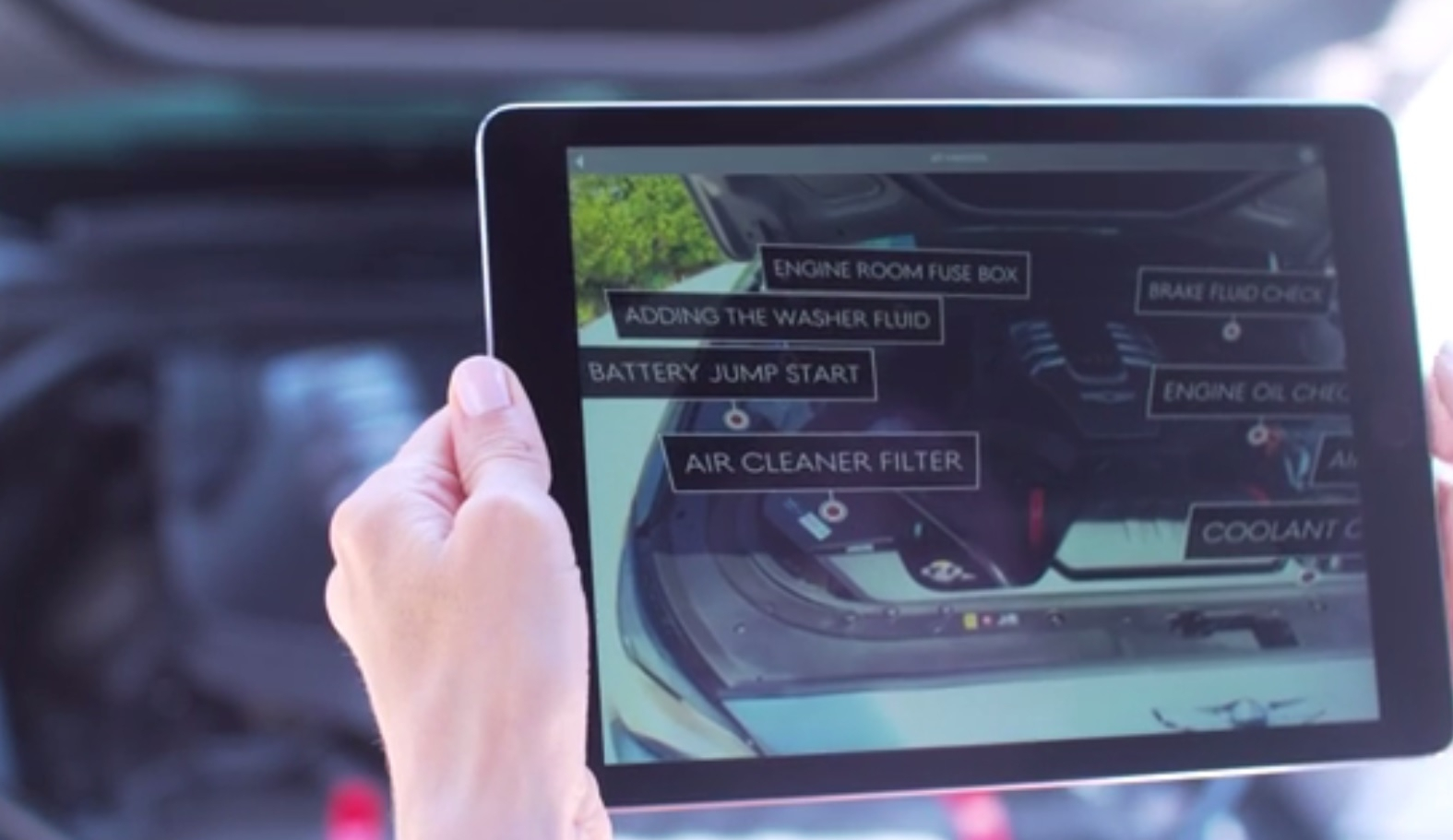 Genesis augmented reality car app
