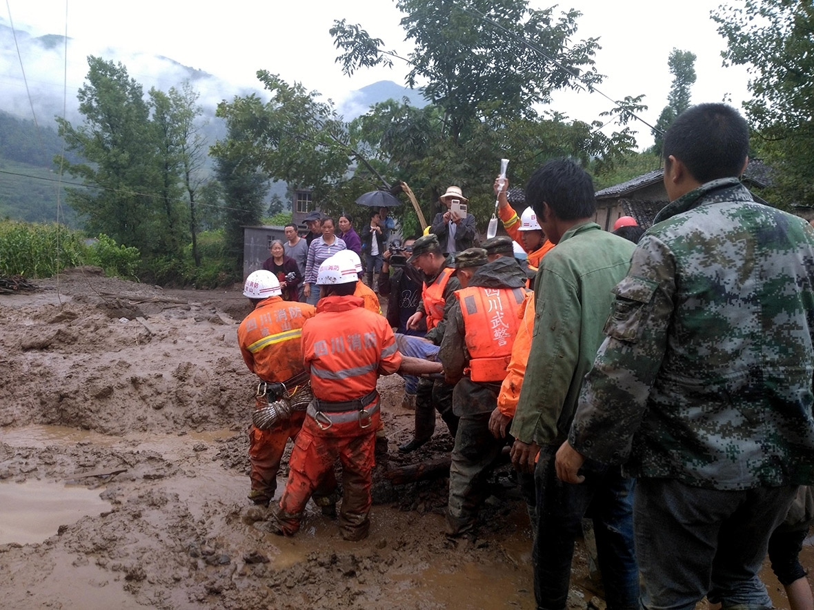 A landslide killed 24 people in China