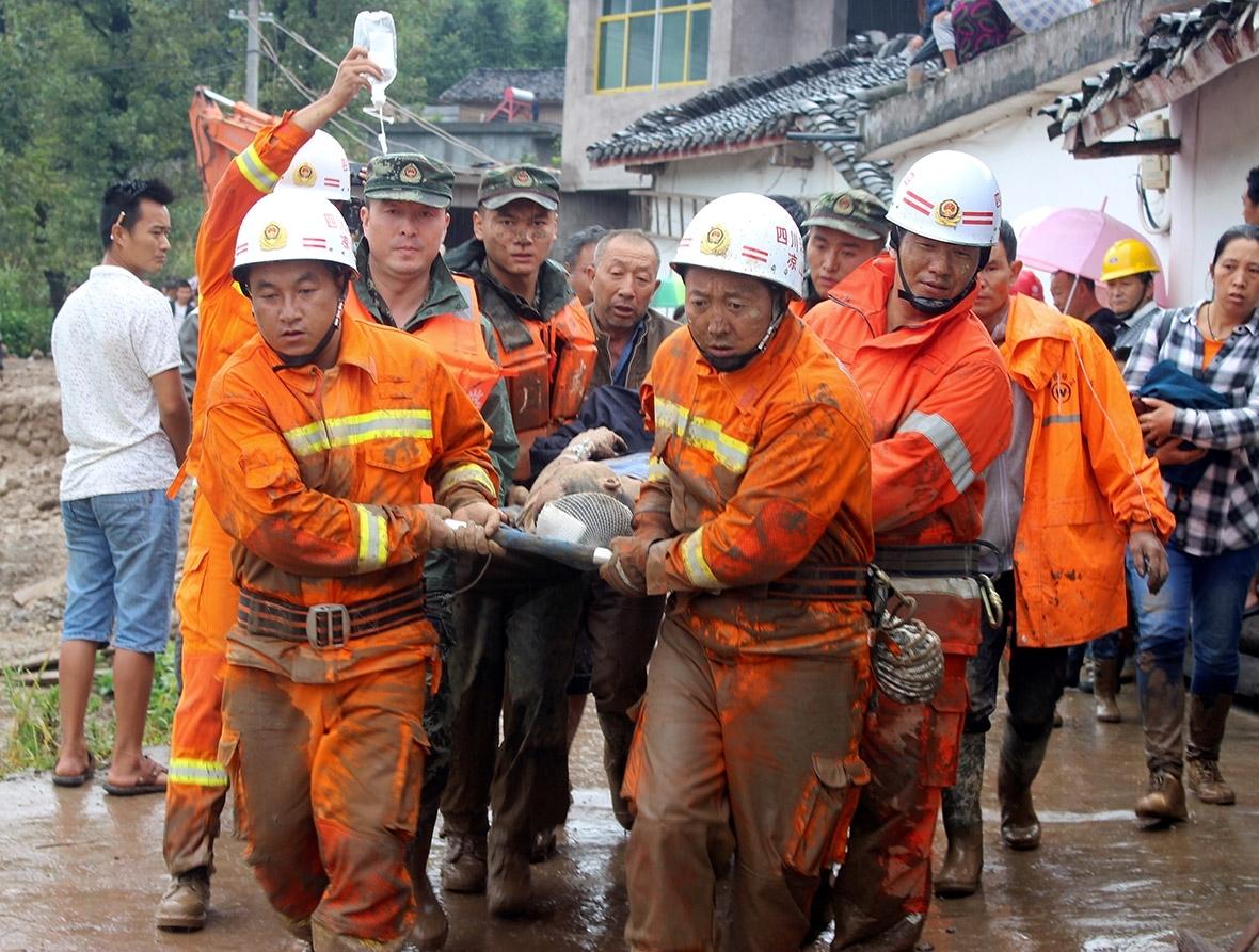 China landslide sichuan gengdi
