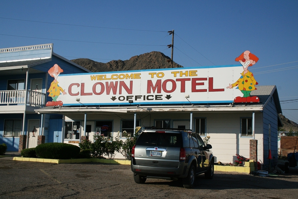 Clown Motel in Tonopah, Nevada
