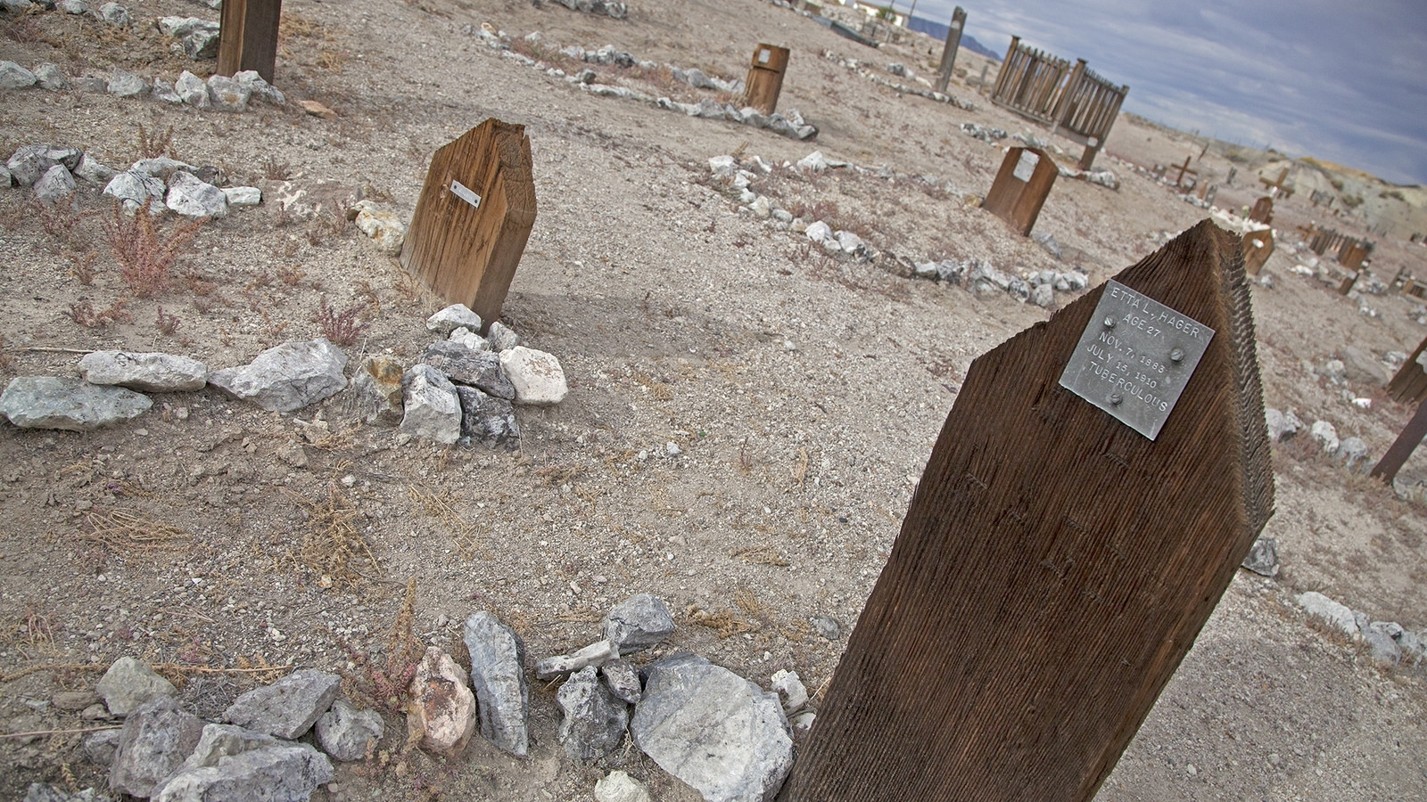Cemetery next to Clown Motel in Tonopah,Nevada