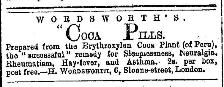 Advert for coca-based patent medicine