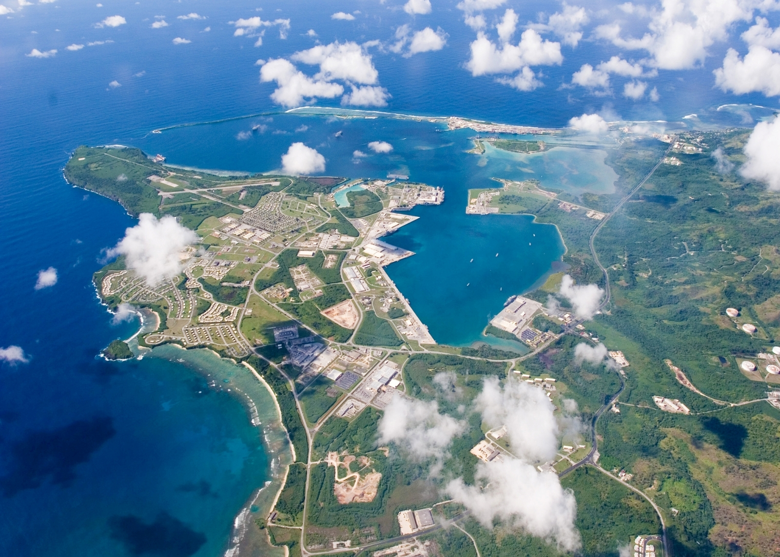 Guam aerial view