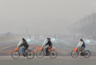 The Smog Free bicycle China pollution