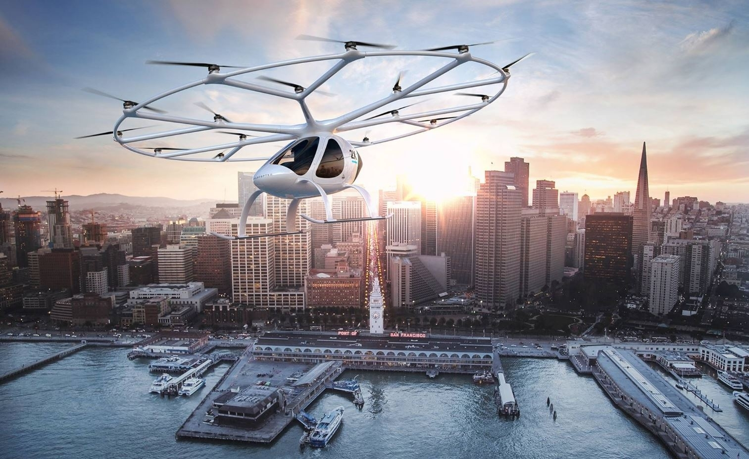 Dubai flying taxi drone Volocopter images