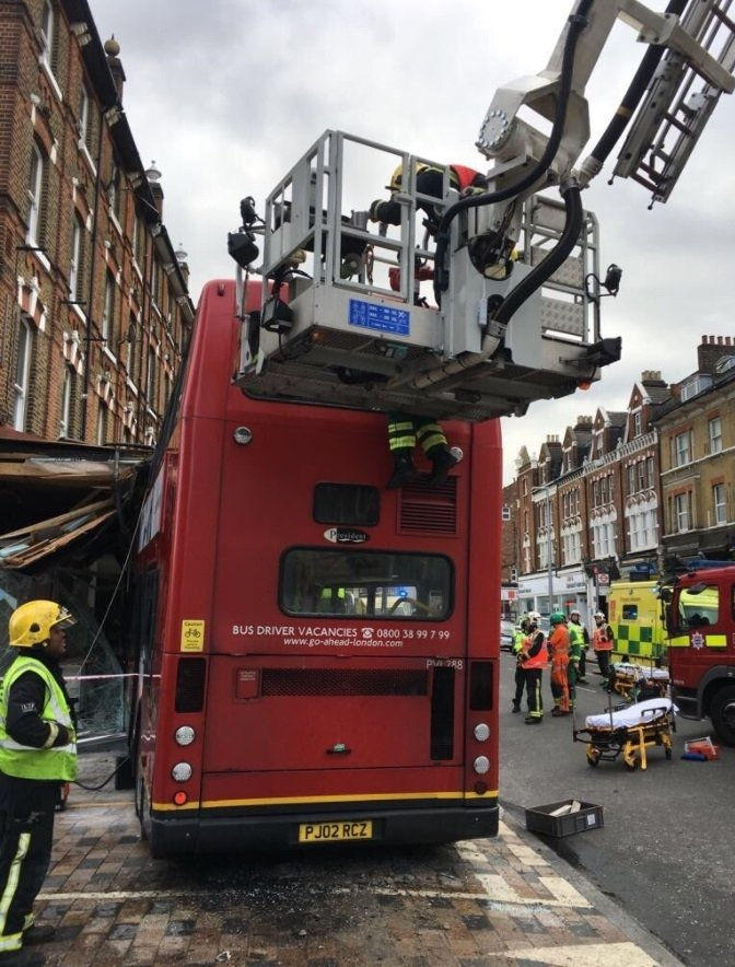 London HART bus crash
