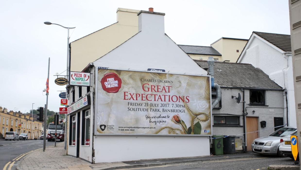 Spelling gaffe Irish billboard