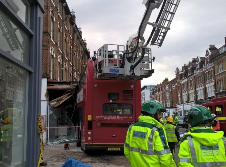 London bus crash Lavender Hill