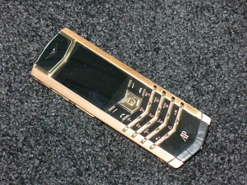 Gold Vertu Signature phone