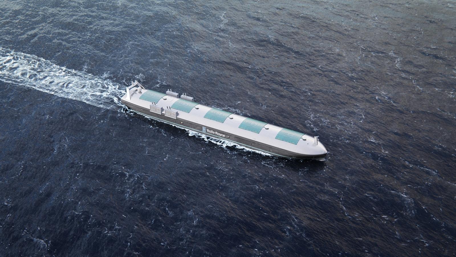 Rolls Royce concept cargo ship