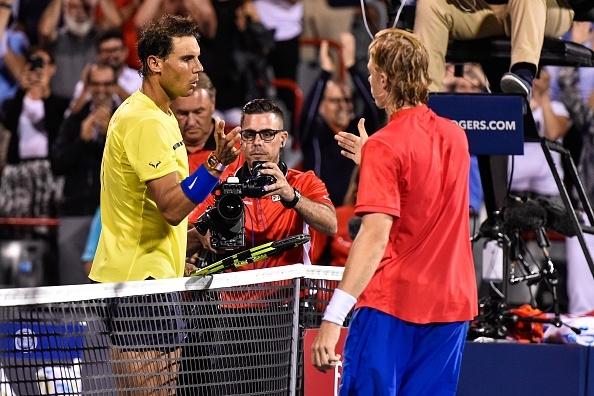 Rafael Nadal and Denis Shapovalov